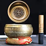 Cuenco tibetano con mantra de Om Mane Padme Hum