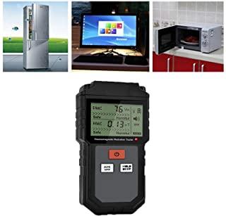 Detector de radiación LED EMF, medidor magnético, detector de campo, caza fantasmas, equipo paranormal, probador portátil (B-Black, 1 pieza)