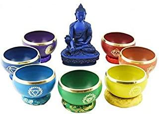 Juego de cuencos tibetanos para meditación colore chakras