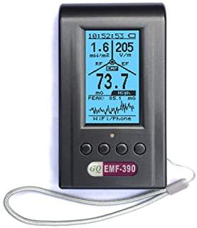 Medidor de campo electromagnético, avanzado, GQ EMF-390 Medidor de radiación electromagnética multicampo 3 en 1