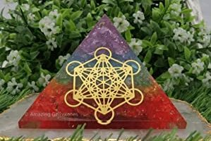 Piramide curativo 7 chakras meditación cristal cuarzo arcoiris. Orgonita cubo de metatron.jpg