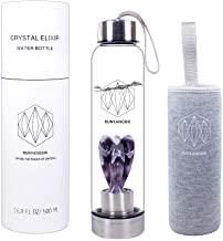 Runyangshi Crystal Elixir agua Botella vidrio con estatua angel