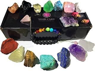 juego de piedras preciosas cristales cuarzo pendulo pulsera kit terapia de color