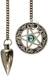 Péndulo metálico con pentáculo pentagrama